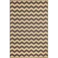 Monterey Charcoal Zig Zag Indoor/Outdoor Rug