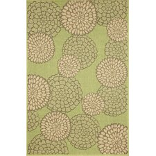 Monterey Green Mums Indoor/Outdoor Rug