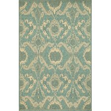 Monterey Ocean Ikat Indoor/Outdoor Rug