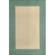 Monterey Ocean Border Indoor/Outdoor Rug