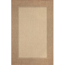 Monterey Neutral Border Indoor/Outdoor Rug