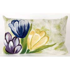 <strong>Liora Manne</strong> Tulips Rectangle Indoor/Outdoor Pillow