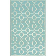 <strong>Liora Manne</strong> Spello Arabesque Aqua Outdoor Rug