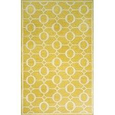 Spello Arabesque Yellow Outdoor Rug