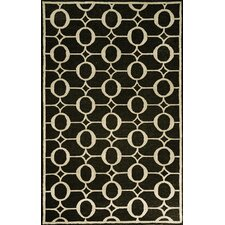 Spello Arabesque Midnight Black Outdoor Area Rug