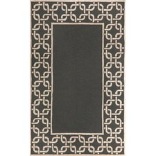 Spello Chain Border Midnight Outdoor Area Rug