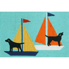 Frontporch Sailing Dogs Rug