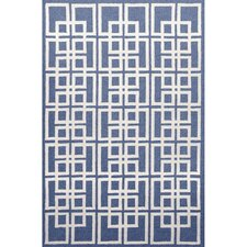 Capri Denim Oriental Square Outdoor Rug