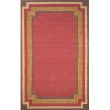 Red Multi Border Rug