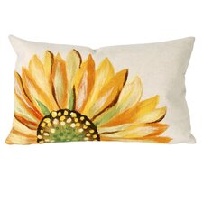 <strong>Liora Manne</strong> Sunflower Rectangle Indoor/Outdoor Pillow