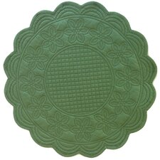 "Sonia Green 16"" Round Placemat (Set of 6)"
