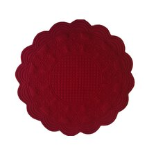 "Sonia Red 16"" Round Placemat (Set of 6)"