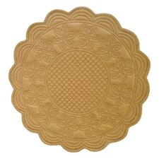 <strong>Couleur Nature</strong> Sonia Yellow 16 inch Round Placemat (Set of 6)