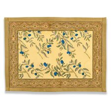 Olive Tree Gold Blue Placemat (Set of 6)