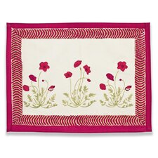 <strong>Couleur Nature</strong> Poppies Red Green Placemat (Set of 6)
