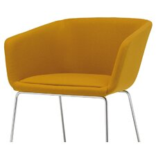 Nanda Comfort Armchair with Tubular Legs