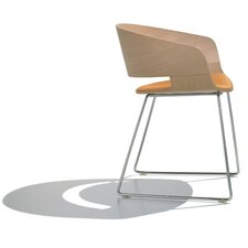 Ronda Armchair with Tubular Sled Base