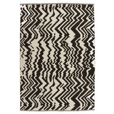 Zebra Black and White Woven Rug