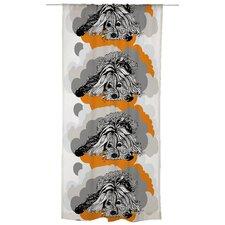 Naapurin Koira Unlined Slot Top Single Panel Curtain