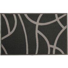 Balaton Grey and White Door Mat