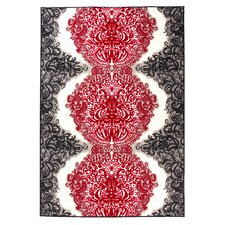 Satsuma Red / Grey Hooked Rug
