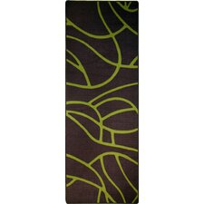 Balaton Grey and Lime Rug