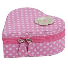 Children's Heart Zip Jewelry Box