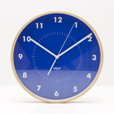 "<strong>Wolf Designs</strong> Moderne 12"" Wall Clock"