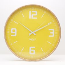 "<strong>Wolf Designs</strong> Moderne 21"" Wall Clock"