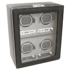 <strong>Wolf Designs</strong> Viceroy Module 2.7 Four Piece Watch Winder with Cover in Black