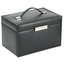 Queen's Court Large Jewelry Case in Noir