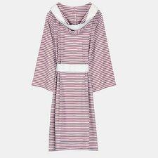 Natural Living Organic Cotton Jersey Stripe Bathrobe