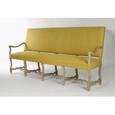 Veronike Silk Fabric Bench
