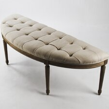 Louis Curve Upholstered Bench