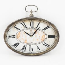 Paris Vintage Oval Clock