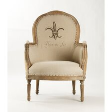 Lance Jute Fabric Arm Chair