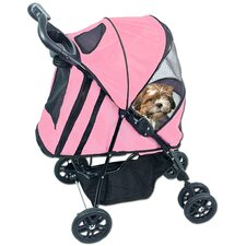 Happy Trails Pet Stroller Plus in Pink