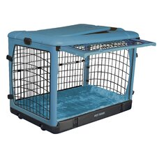 Deluxe Steel Dog Crate in Ocean Blue