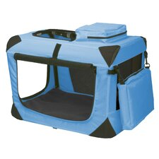 Generation II Deluxe Portable Soft Dog Crate in Ocean Blue - Extra-Small