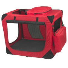 Generation II Deluxe Portable Soft Dog Crate in Red Poppy - Small