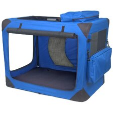 Generation II Deluxe Portable Soft Dog Crate in Blue Sky - Medium