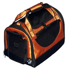 World Traveler Tote Bag Pet Carrier in Tangerine