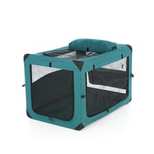 Generation II Deluxe Portable Soft Dog Crate in Moss Green - Large