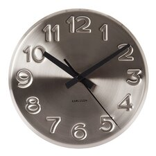 Bold Engraved Numbers Wall Clock