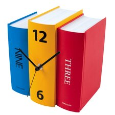 Book Paper Table Clock