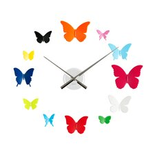 DIY Butterflies Wall Clock