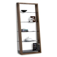 Eileen Leaning Five Shelf Bookcase