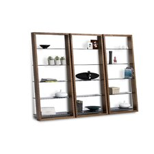 "Eileen 75"" Leaning Shelf Bookcase"