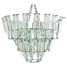 Wine Bottle 4 Light Crystal Chandelier