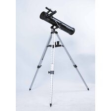 140x Reflector Telescope in Black